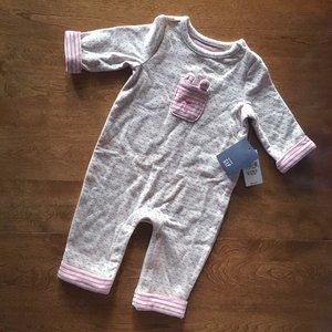Baby Gap cozy one-piece 0-3m NWT